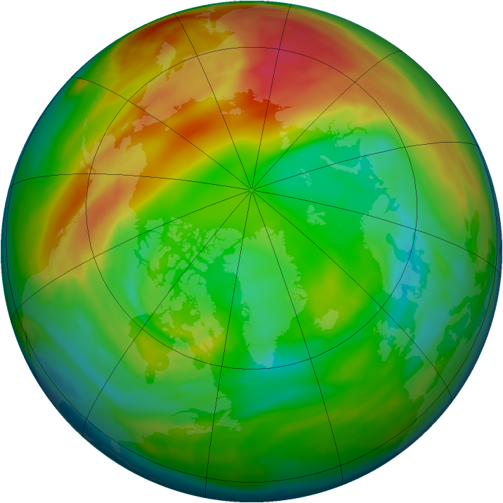 Arctic ozone map for 04 February 2005