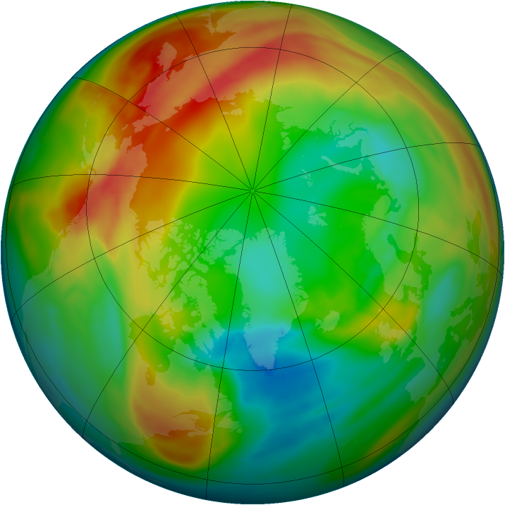 Arctic ozone map for 12 February 2005