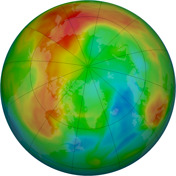 Arctic ozone map for 15 February 2005