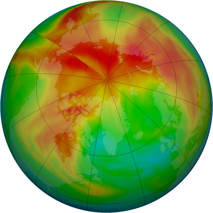 Arctic ozone map for 13 March 2005