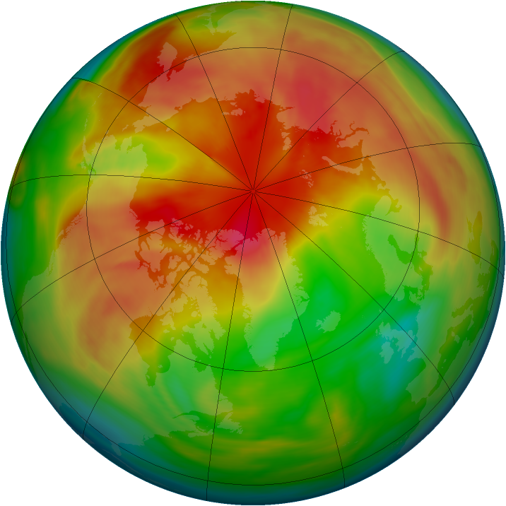 Arctic ozone map for 15 March 2005