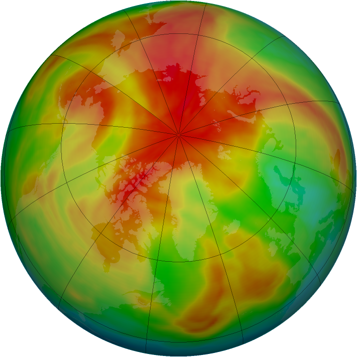 Arctic ozone map for 23 March 2005