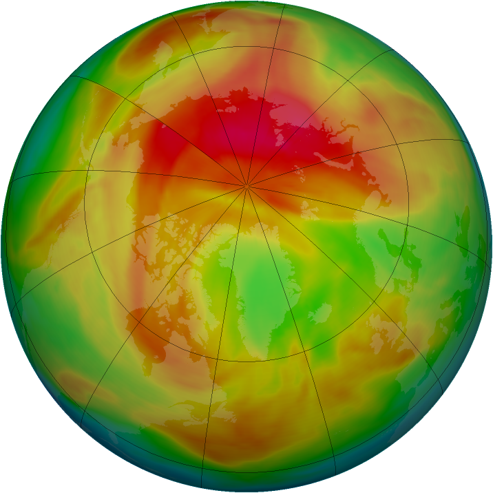 Arctic ozone map for 27 March 2005