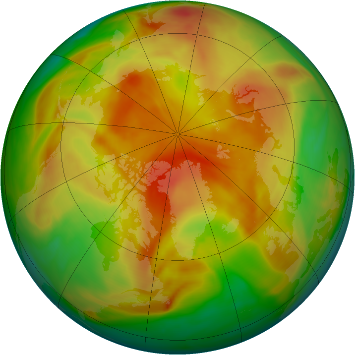 Arctic ozone map for 14 April 2005