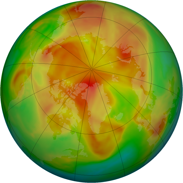 Arctic ozone map for 16 April 2005