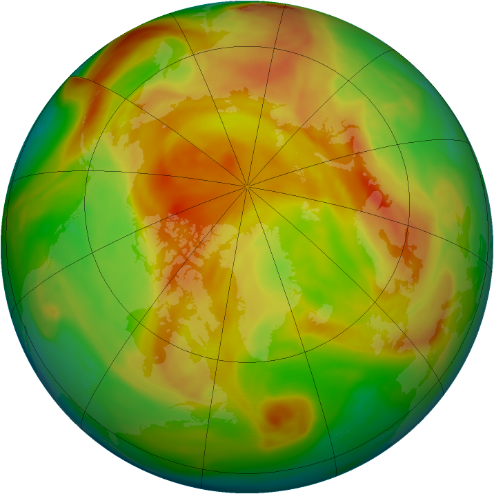 Arctic ozone map for 20 April 2005