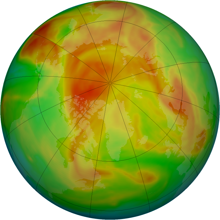 Arctic ozone map for 21 April 2005