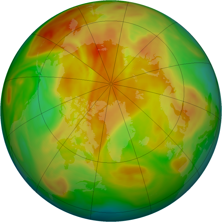 Arctic ozone map for 24 April 2005
