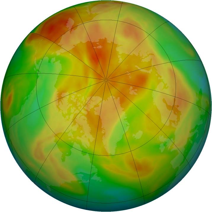 Arctic ozone map for 25 April 2005