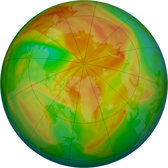 Arctic ozone map for 28 April 2005