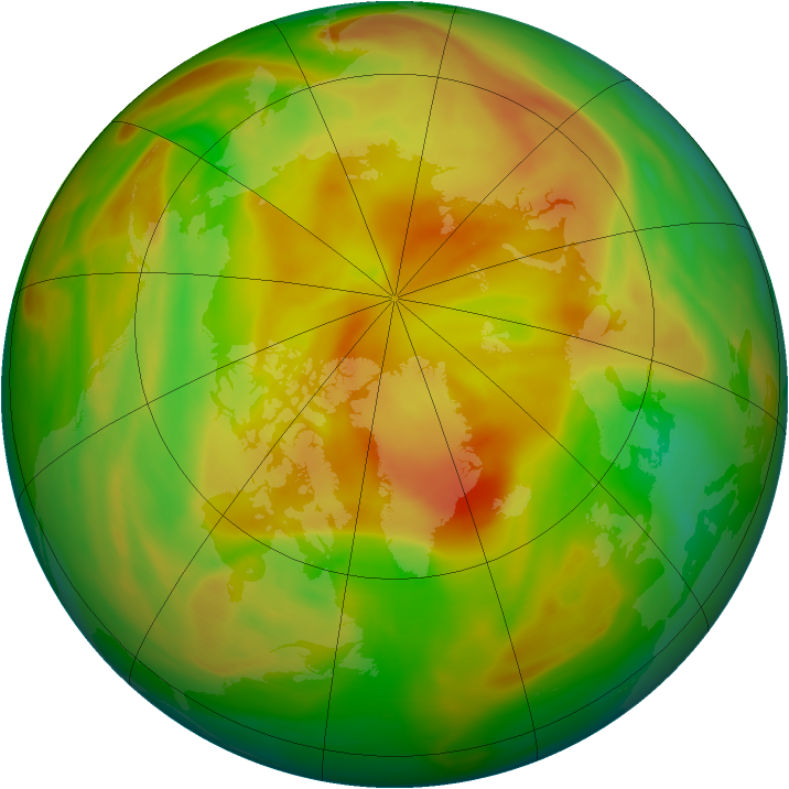 Arctic ozone map for 02 May 2005