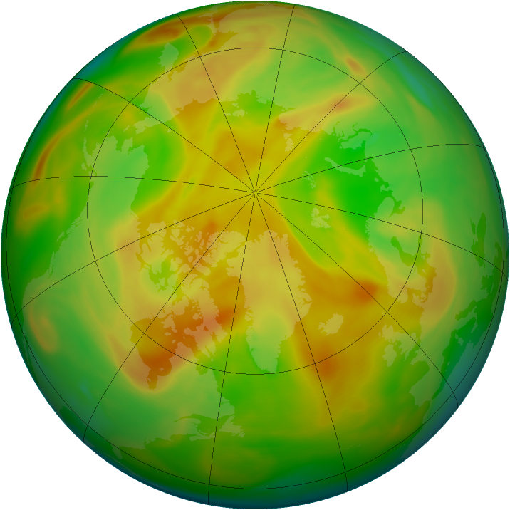 Arctic ozone map for 11 May 2005