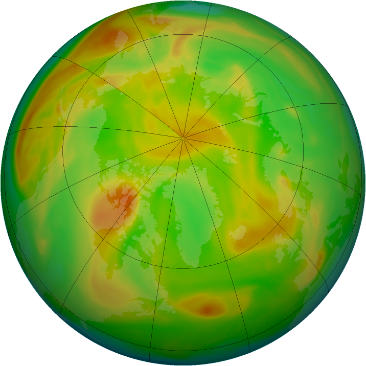 Arctic ozone map for 17 May 2005
