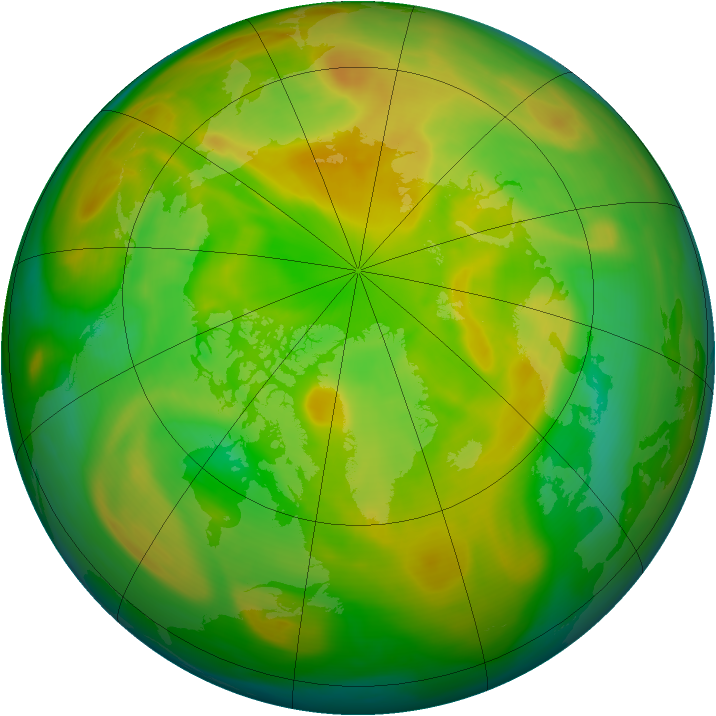 Arctic ozone map for 27 May 2005