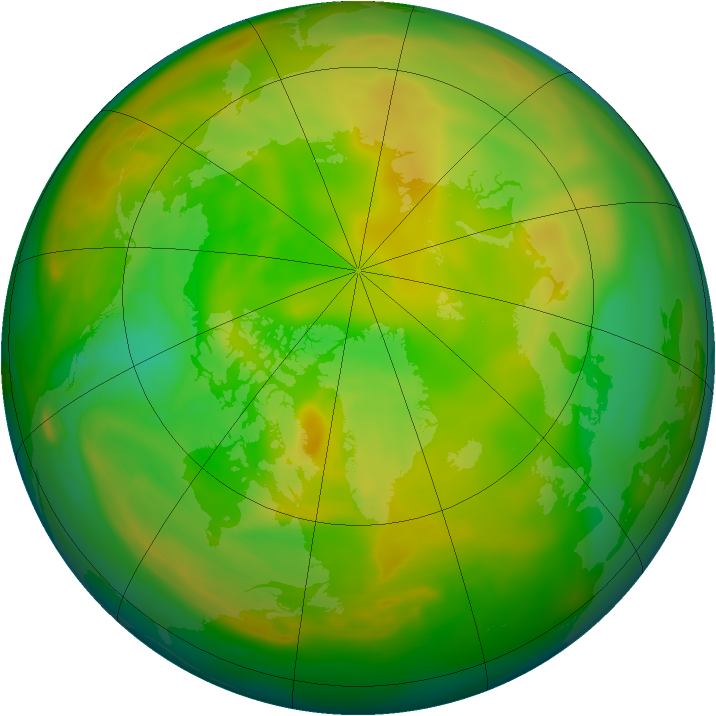 Arctic ozone map for 29 May 2005