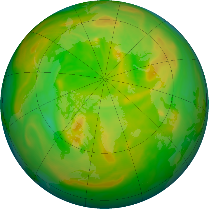Arctic ozone map for 31 May 2005