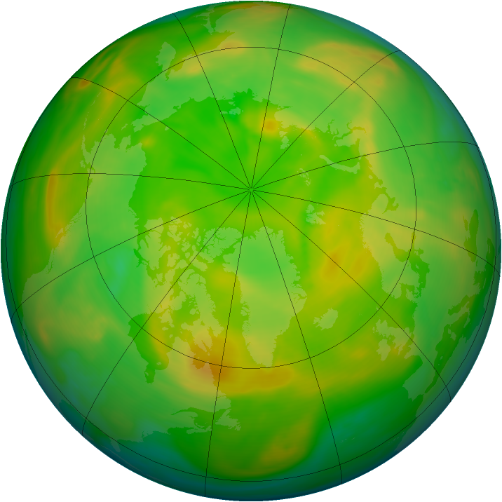 Arctic ozone map for 03 June 2005