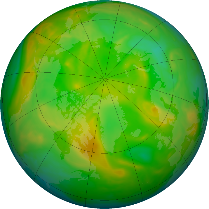 Arctic ozone map for 10 June 2005