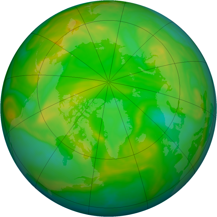 Arctic ozone map for 19 June 2005