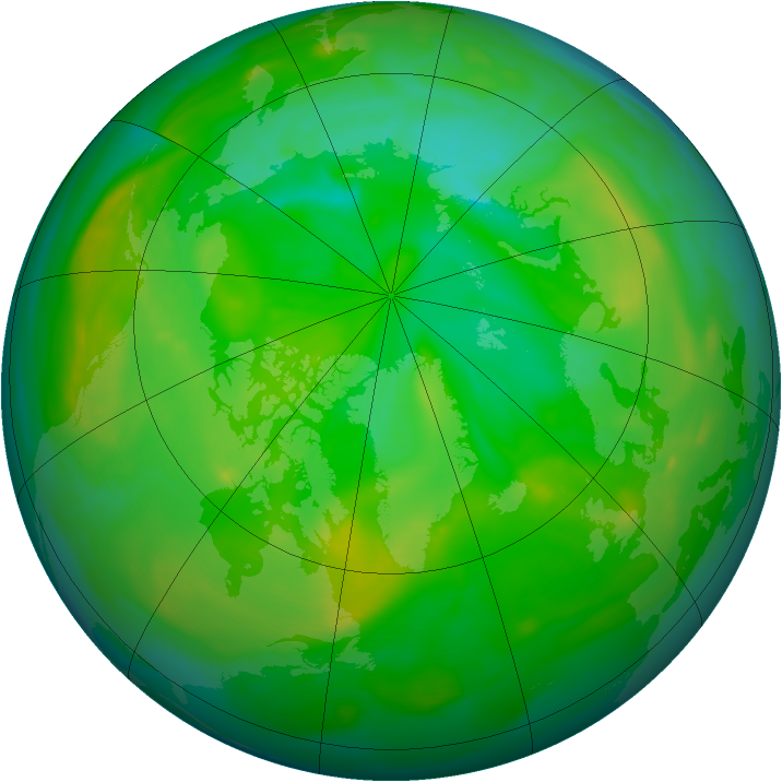 Arctic ozone map for 06 July 2005