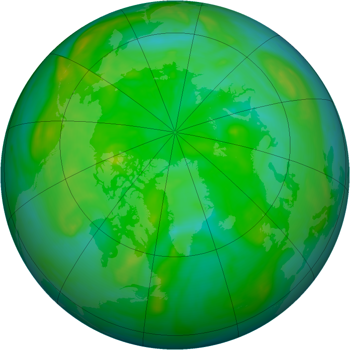 Arctic ozone map for 14 July 2005