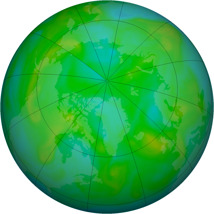 Arctic ozone map for 18 July 2005