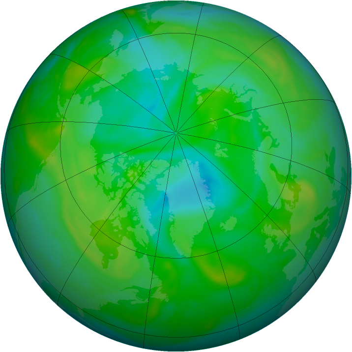 Arctic ozone map for 21 July 2005