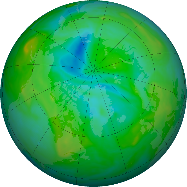 Arctic ozone map for 23 July 2005