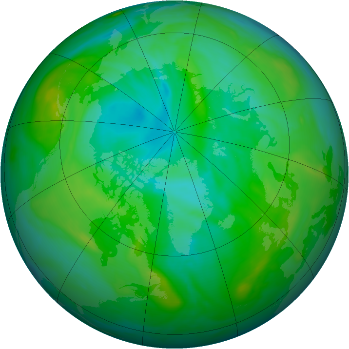Arctic ozone map for 25 July 2005