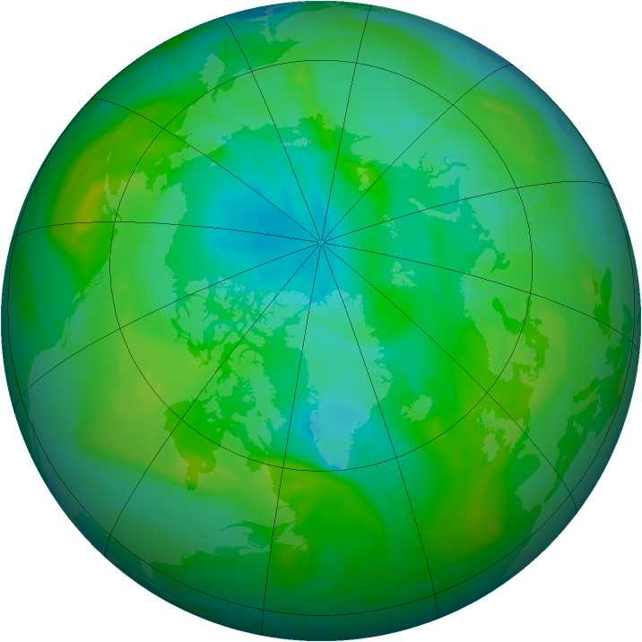 Arctic ozone map for 26 July 2005