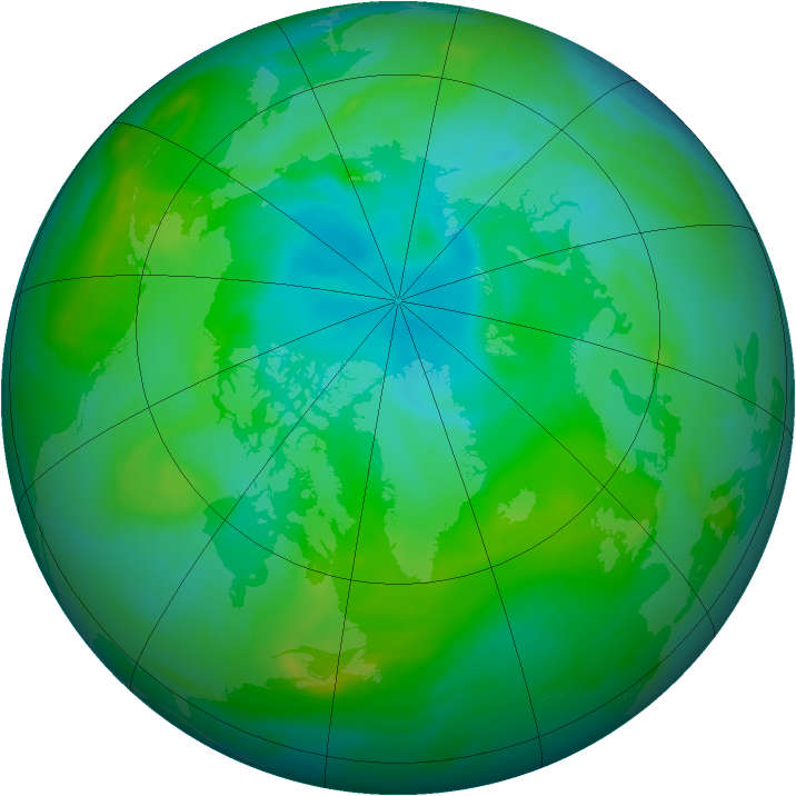 Arctic ozone map for 03 August 2005