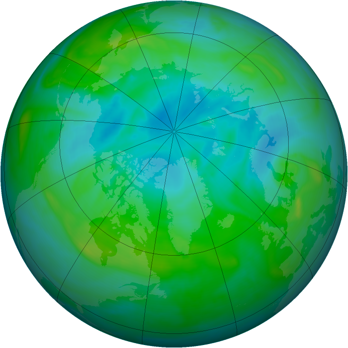 Arctic ozone map for 10 August 2005