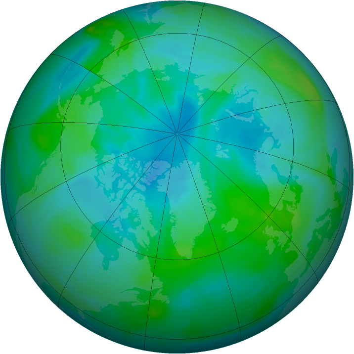 Arctic ozone map for 26 August 2005