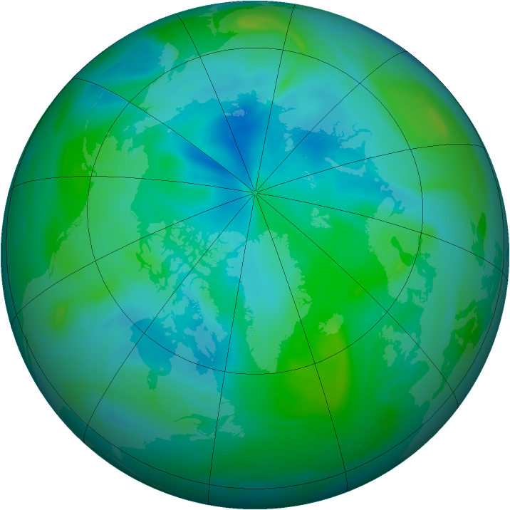 Arctic ozone map for 30 August 2005