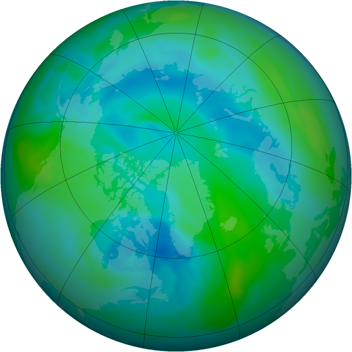Arctic ozone map for 02 September 2005