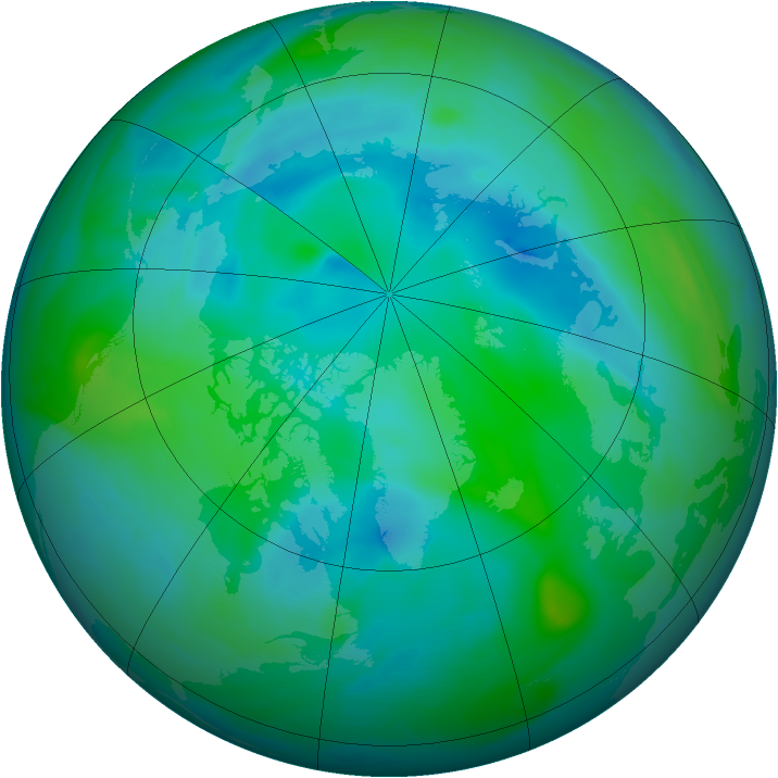 Arctic ozone map for 03 September 2005