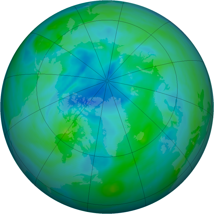 Arctic ozone map for 14 September 2005