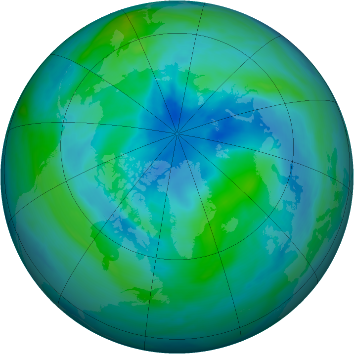 Arctic ozone map for 21 September 2005