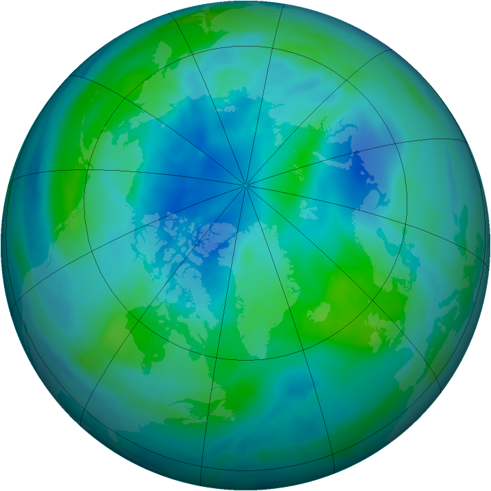 Arctic ozone map for 28 September 2005