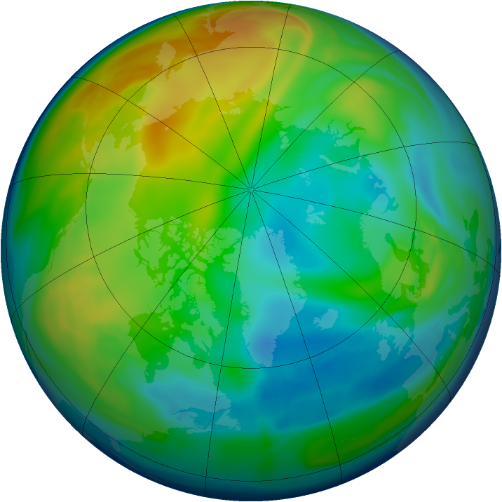 Arctic ozone map for 16 December 2005