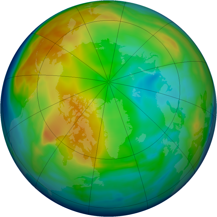 Arctic ozone map for 30 December 2005