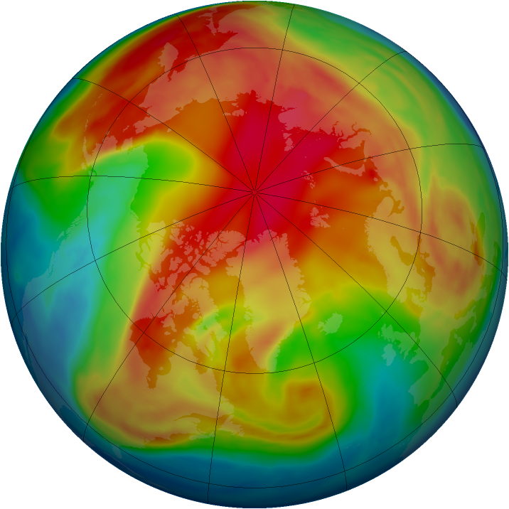 Arctic ozone map for 12 February 2006
