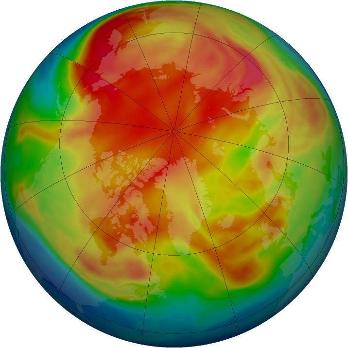 Arctic ozone map for 18 February 2006