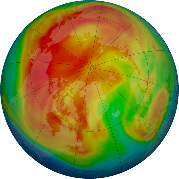 Arctic ozone map for 22 February 2006