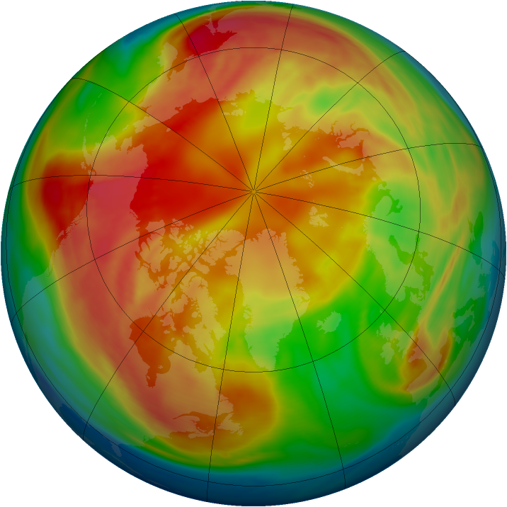 Arctic ozone map for 24 February 2006