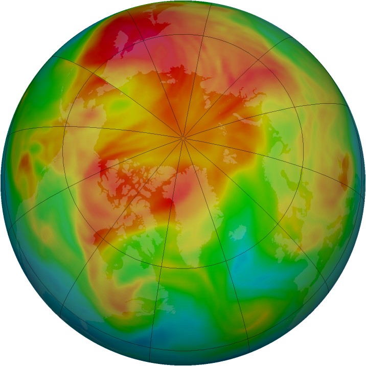 Arctic ozone map for 15 March 2006