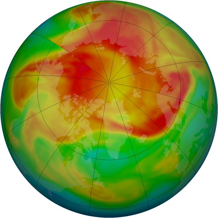 Arctic ozone map for 21 March 2006