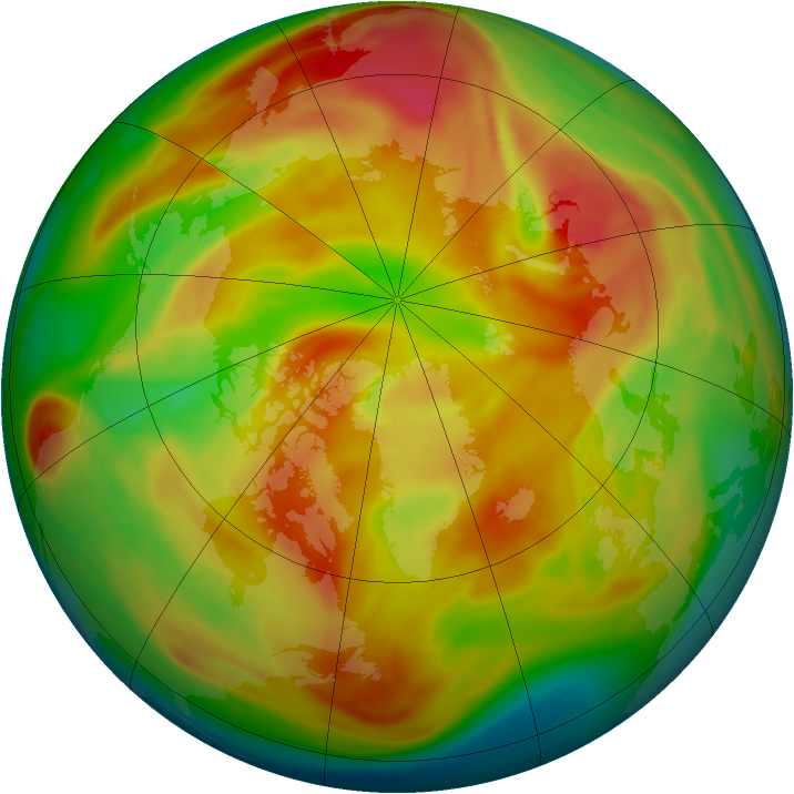 Arctic ozone map for 28 March 2006