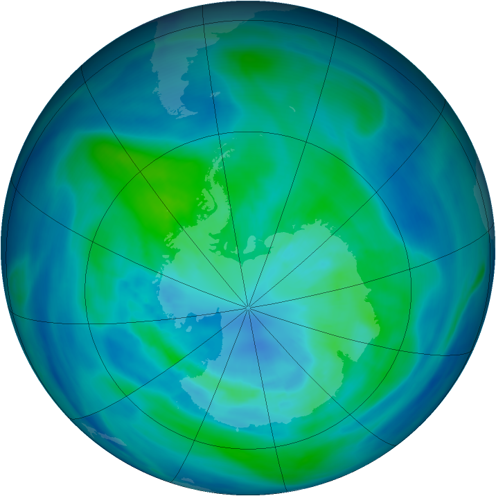 Antarctic ozone map for 28 March 2006