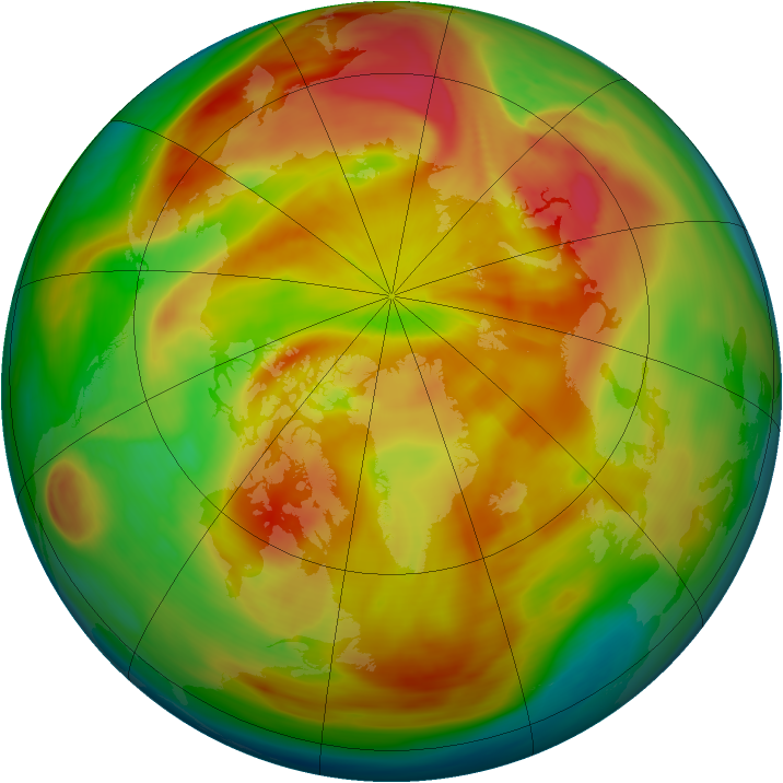 Arctic ozone map for 29 March 2006